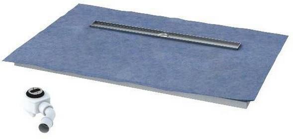 Schedpol Posadzkowy podpłytkowy z odpływem Steel 140x70 10.006/OLDB/SL