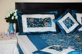 Narzuta na łóżko 220x260 i 4 Poszewki na poduszki Komplet do Sypialni Haft We