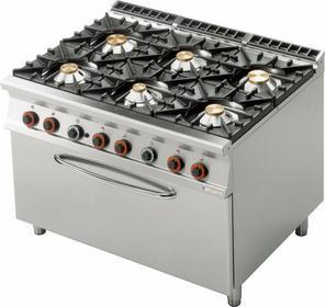 Lotus Kuchnia gazowa z piekarnikiem gazowym 3x GN 1/1 CF6 - 912 G 00001082
