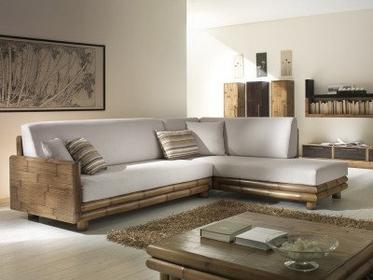 Bortoli Komplet salonowy z bambusa TSU - Sofa z bambusa Lewa