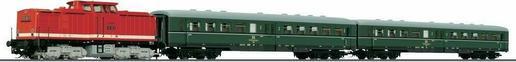 Tillig TT Lokomotywa spalinowa serii 110 z pociągiem osobowym DR skala TT