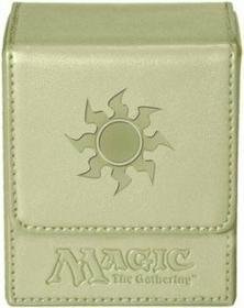 Ultra-Pro Pudełko na 100 kart MTG - White Mana Flip Box