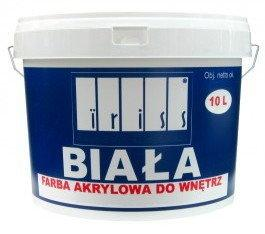 Iriss Farba akrylowa wewnętrzna 10L Biała