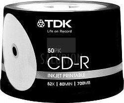 TDK CD-R 700MB 52x - do Tak 50