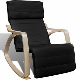 Czarny regulowany Fotel bujany