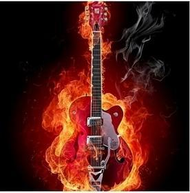 Ognista gitara - Obraz, reprodukcja