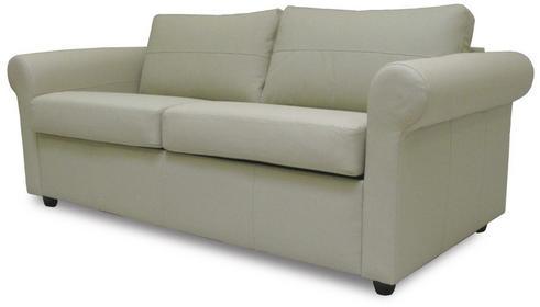 Klasyk Sofa rozkładana - skóra jasny beż SAN2PLNALA