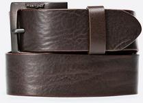 Wrangler Pasek - - Pasek brązowy W00108185