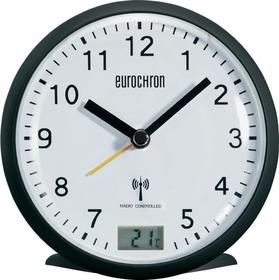 Eurochron Zegar radiowy EFW 343 z Budzikiem 110 x 110 x 50 mm czarny
