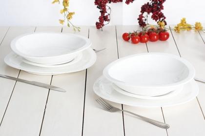 Ambition Serwis obiadowy PARIS dla 6 osób (18 el.)-- biały