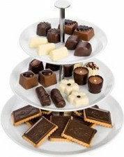 Tescoma patera 3 poziomowa na ciastka czekoladki 386140.00