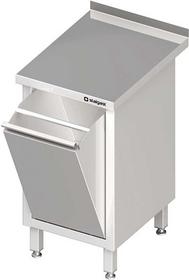 Stalgast Stół przyścienny z koszem uchylnym 455x700x850 mm 980617045