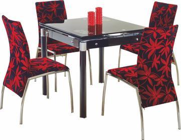 Halmar Stół rozkładany Kent stal malowana + krzesła K70C