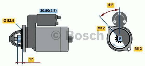 Bosch Rozrusznik 0 001 107 427