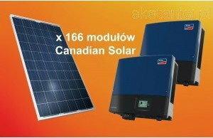 Canadian Solar Zestaw ogniw 39.84kW CS6P-240P + dwa falowniki SMA STP Sunny TriP