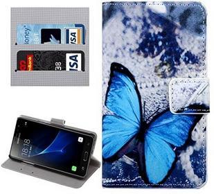 Samsung High Quality-Tasche, für galaxy j3 pro / j311 pflaumenblüte muster horizontale flip - ledertasche mit inhaber &card slots &geld ( SKU : SAS3010C )