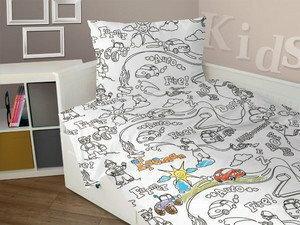 Greno for Kids Pościel bawełniana dla dzieci do kolorowania 140x200 Boy 6D