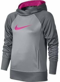 Nike Bluza Dziewczęca KO 3.0 OTH Hoody YTH - wolf grey/cool grey/pink pow