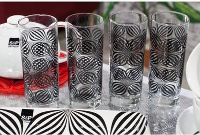 Dekoria komplet szklanek do drinków S&P Madison czarny 400ml