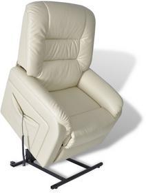 vidaXL Fotel telewizyjny rozkładany, z regulacją, biały