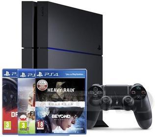 Sony PlayStation 4 1 TB Czarny + Heavy Rain & Beyond Two Souls Collection + DriveClub + FIFA 16