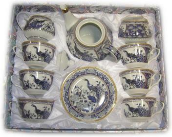 Komplet porcelana japońska Pawie niebieskie (FIL680KN)