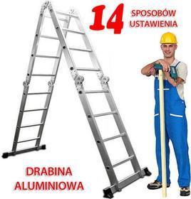 wideShop DRABINA PRZEGUBOWA 4X4 aluminiowa 14 FUNKCJI 460cm