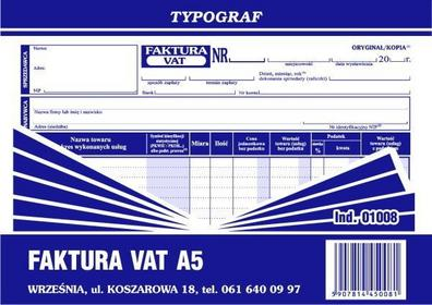Typograf Faktura VAT A5