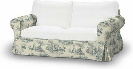 Dekoria Pokrowiec na sofę Ektorp 2-osobową, nierozkładaną Avinon tło ec