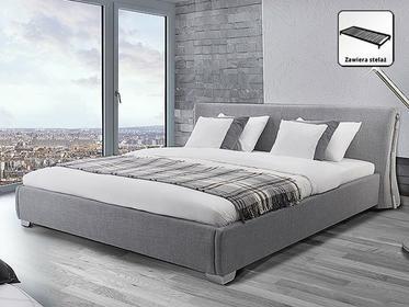 Beliani Nowoczesne łóżko Tapicerowane ze stelazem 160x200 cm - PARIS szare szary