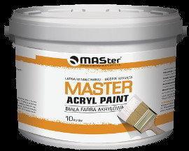 MASter Biała farba akrylowa Acryl Paint 10L M-AP-10