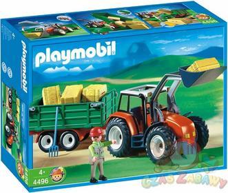 Playmobil Traktor z przyczepą