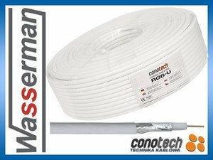 Conotech RG6-U (Fe/Cu) kabel antenowy rolka 100m