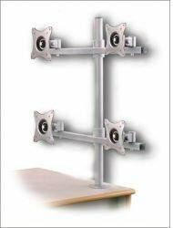 Edbak SV07 - Uchwyt biurkowy na cztery monitory LCD /TFT/LED 19 - 26 do 40kg