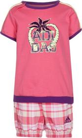 adidas Performance SET Tshirt z nadrukiem różowy AD543K00Y-J11