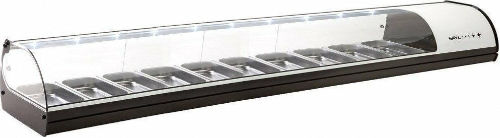 Sayl Witryna chłodnicza seria Standard V10 biały / 2140 x 395 x 245 mm V10B