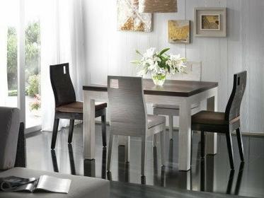 Bortoli Komplet z bambusa prasowanego - Stół Hotel 120x90 i 4 krzesła Hotel