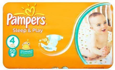 Pampers PROCTER & GAMBLE Pieluchy Sleep&Play 4 4 Maxi 50 sztuk