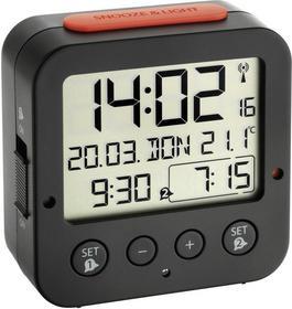 TFA Zegar Sterowany radiowo 60.2528.01 Czarny (DxS) 81 33 mm mm x 81 mm