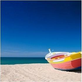 Kolorowa łódź - Obraz, reprodukcja