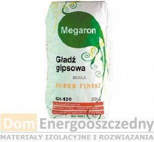 Megaron Gładź gipsowa biała SUPER FINISH 20 kg