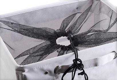 Kosz na pranie LAUNDRY - pojemnik 80 l - biały