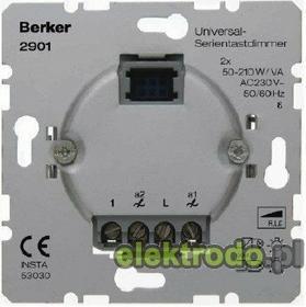Berker Ściemniacz uniwersalny seryjny, Przyciskowy 2901