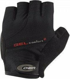Chiba Rękawiczki rowerowe Gel Comfort Plus czarne rozm. XS RS-RE206