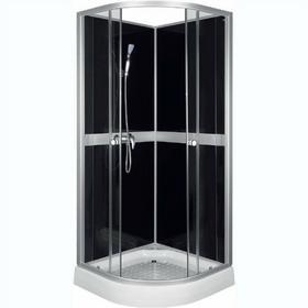 Novoterm Classic Black 80x80 profil satyna szkło transparentne/czarne + brodzik