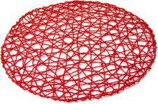 Quiselle SZEROKI SPLOT Mata stołowa z liścia palmowego 36cm czerwona