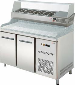 RedFox Stół do pizzy dwudrzwiowy z witryną RTP - 2D 00009935