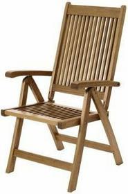 """Krzesło ogrodowe, składane """"Portland drewniane do ogrodu, z podłokietnikiem"""