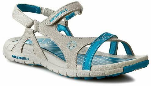 Merrell sandały - Lissum Lattice J196393C srebrny/Blue