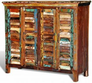 Drewniana szafka 2 x podwójne drzwi